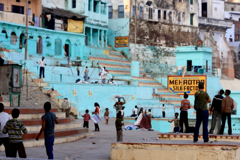 Cricket Match near the ganges