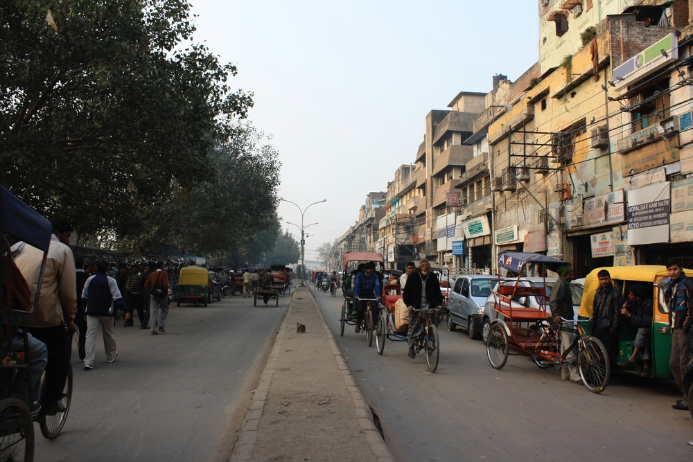 Rickshaw drivers in Old Delhi