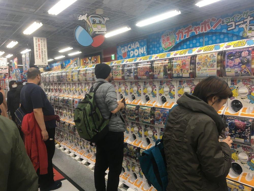 Gacha-Pon machines at Yodobashi-Akiba in Akihabara