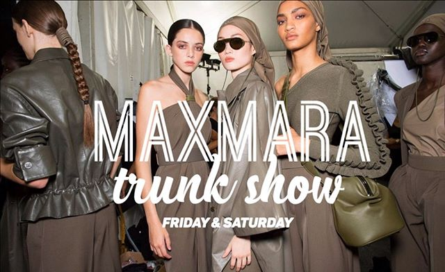 Getting stoked for our Spring Kick-Off with our MaxMara Trunk Show this weekend ... #maxmara #trunkshow #hiltonsprinceton #spring #kickoff