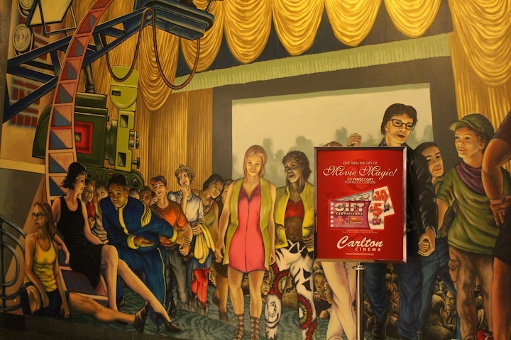 The Carlton Cinema Gallery wall