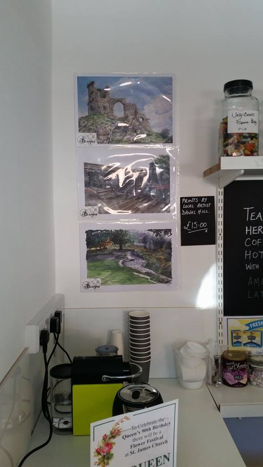 'Mow Cop Castle', 'loughborough Train Station' and 'Bradgate Park' prints can now be found at DD's on The Corner in Macclesfield ~£12 each