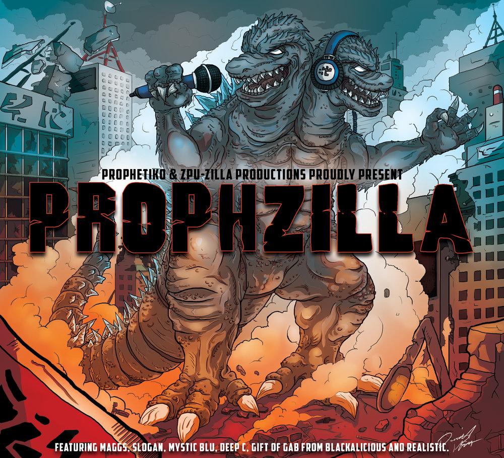 Prophzilla, by Prophetiko . One of the final album covers done for 2016, this project was fun and allowed me to experiment in a more simple, gradient style for the colour scheme that i think really paid off.