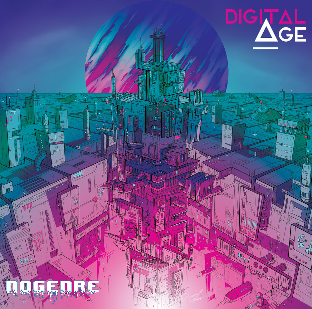 The latest EP cover I designed for DJ NoGenre for his upcoming release.