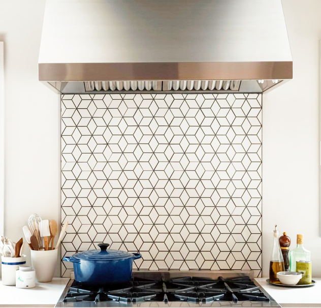 But, just in the stove backsplash area (like this).