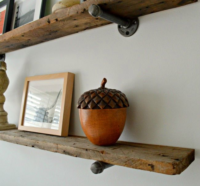 Barn Wood Industrial Shelves