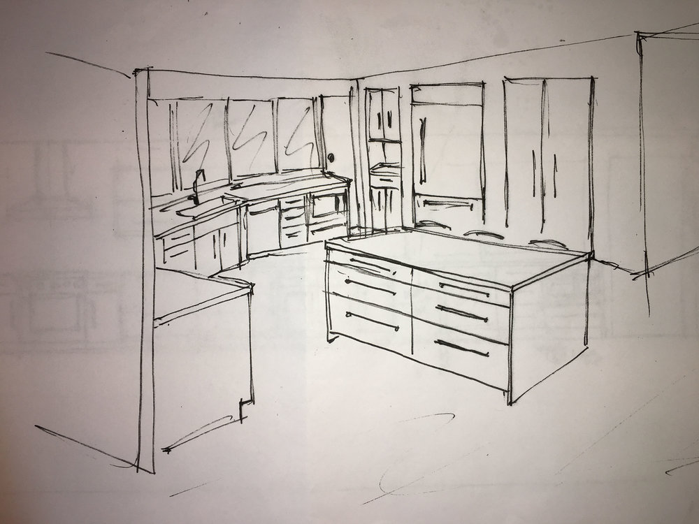 Here's the drawing of the kitchen.