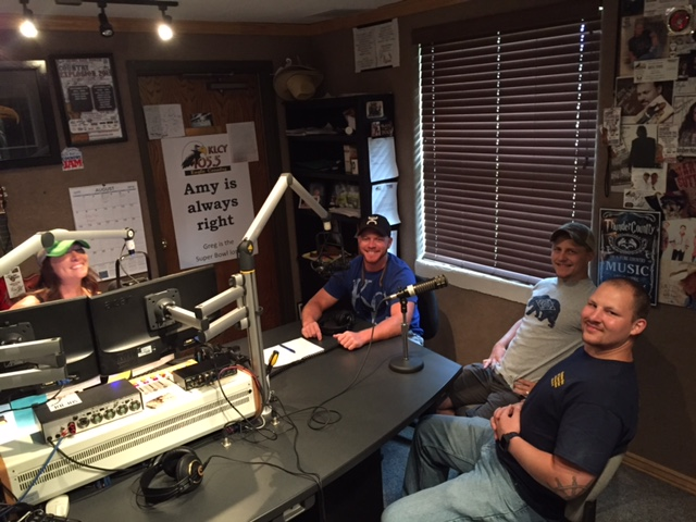 U.S. Marines who served wit Sgt. Daniel Gurr, who lost his life in Afghanistan in Aug. 2013,   in KLCY studio this morning to promote the Sgt. Daniel Gurr charity 5k run/walk.