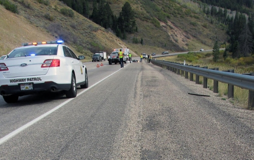 Car Catches Fire After Highway 40 Accident — Basin Now