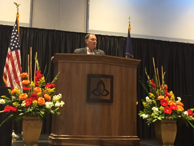 Governor Herbert speaking at the Uintah Basin Energy Summit