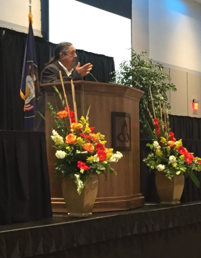 Shawn Chapoose-Ute Tribe Chairman speaking at the Uintah Basin Energy Summit