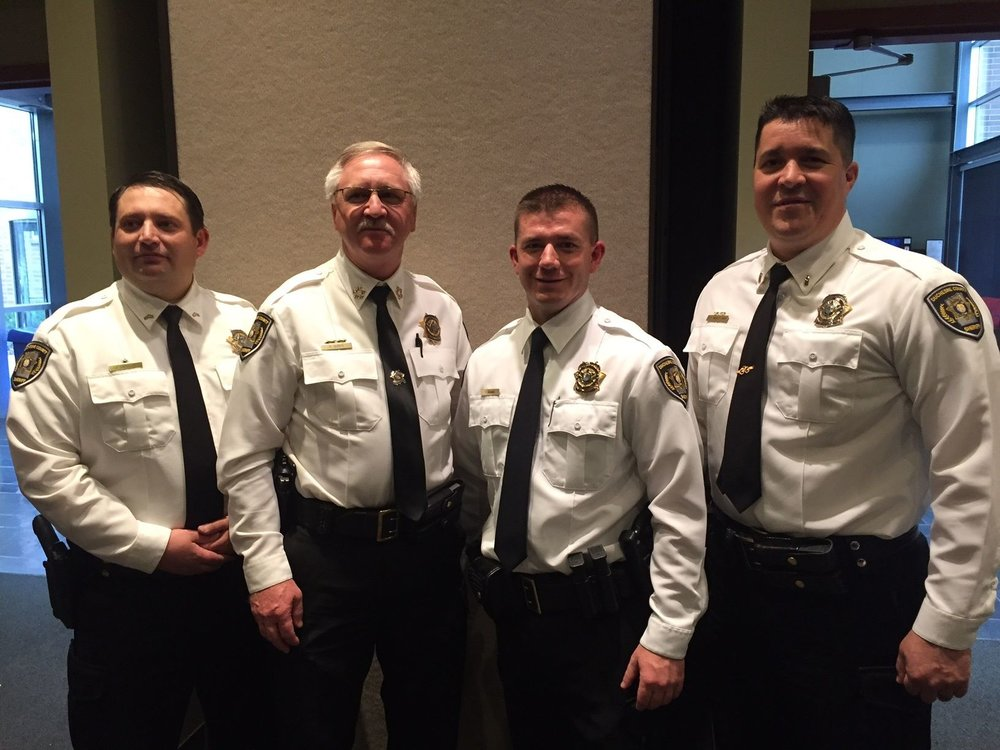 featured in photo: Cpl. Jared Harrison, Sheriff Dave Boren, Deputy Tim Adams (Cadet) and Patrol Lt. Monty Nay