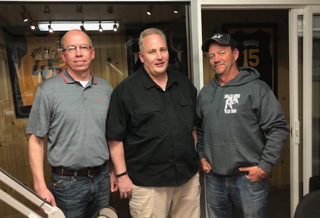 Left to right: William Merkley General Manager Uintah Water Conservancy District, Tal Ehlers Uintah County Emergency Manager, Mike Lefler Duchesne County Emergency Manager.