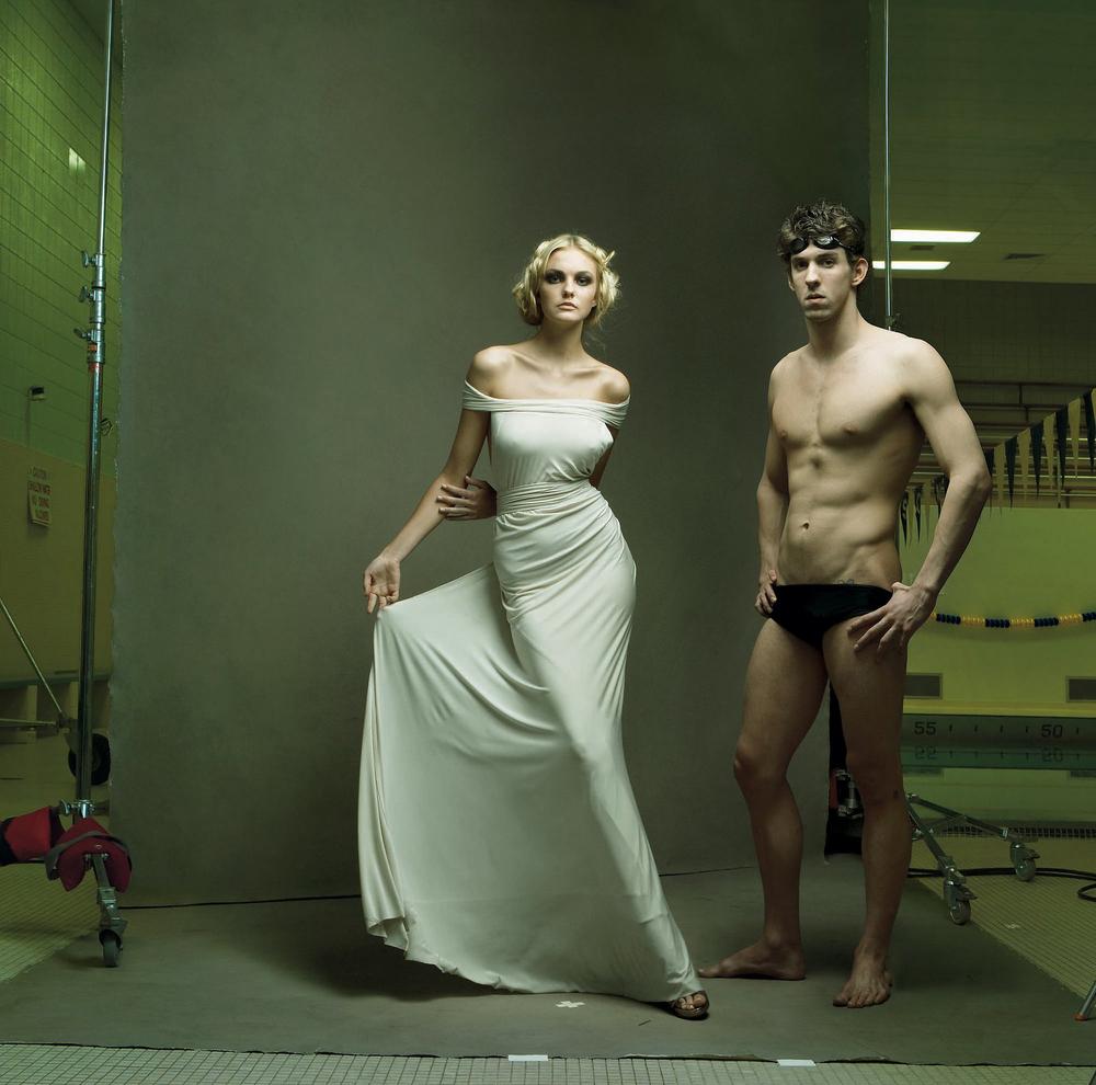 Michael Phelps and Caroline Trentini in Donna Karan