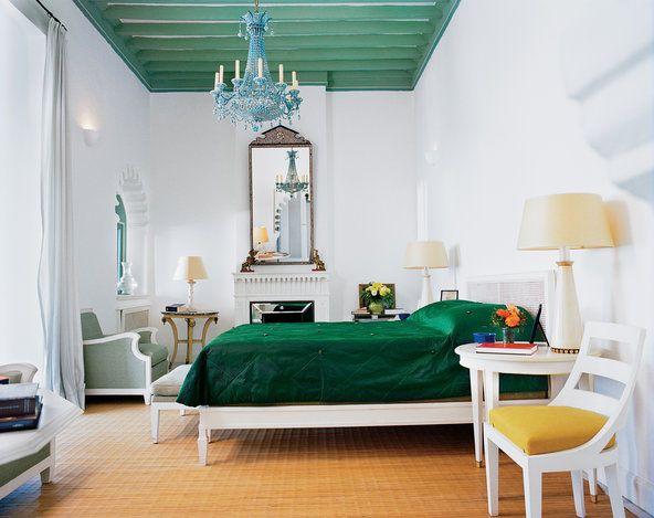 An interior shot of Yves Saint Laurent's Tangier home.