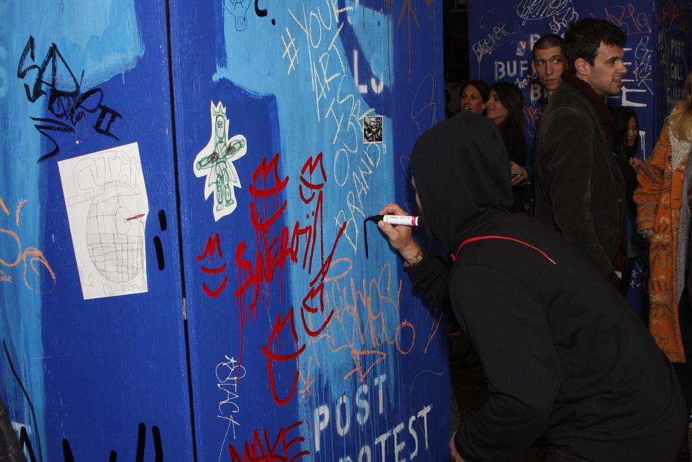 Street Artist tagging
