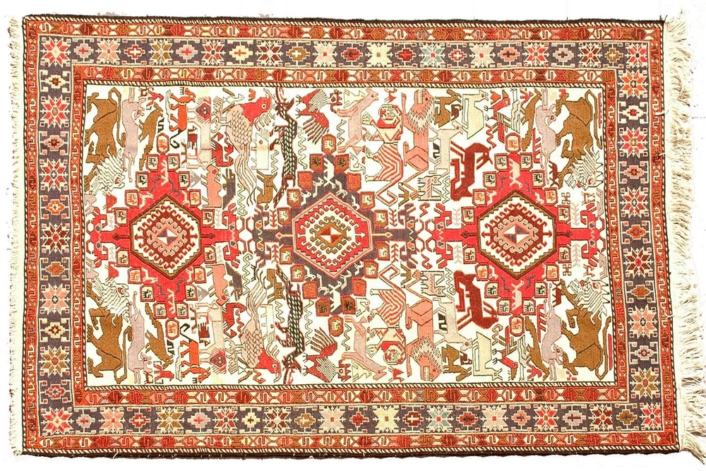 An antique Sumak rug from Northern Caucasus