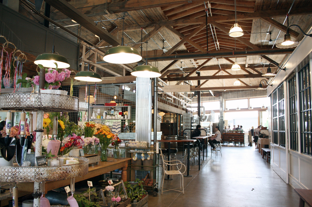 Facade of Melrose Market, and a peak inside too!