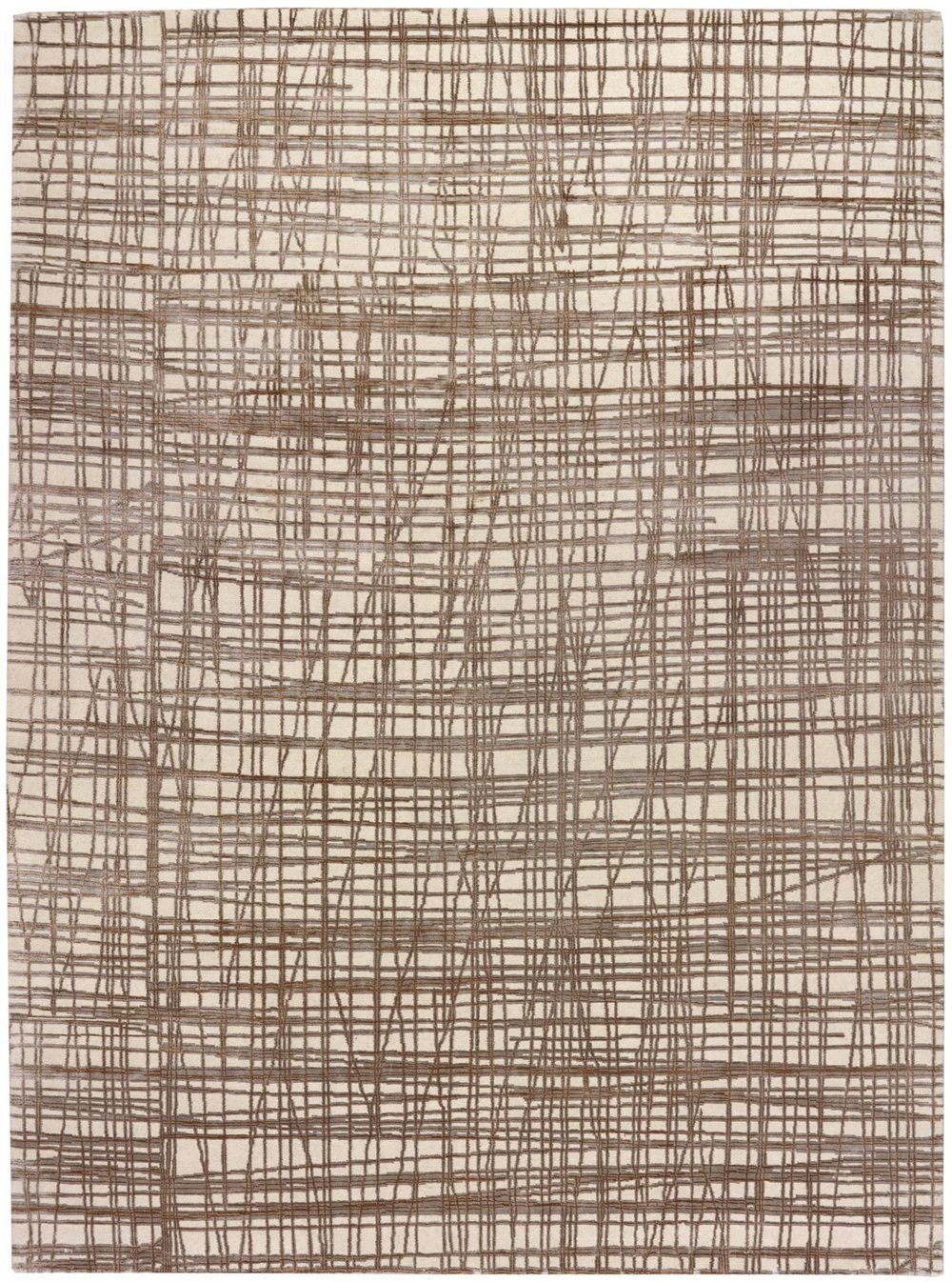 This version of our Scratchout design has bold lines and a larger scaled grid. Woven in silk and wool this carpet makes for a strong foundation