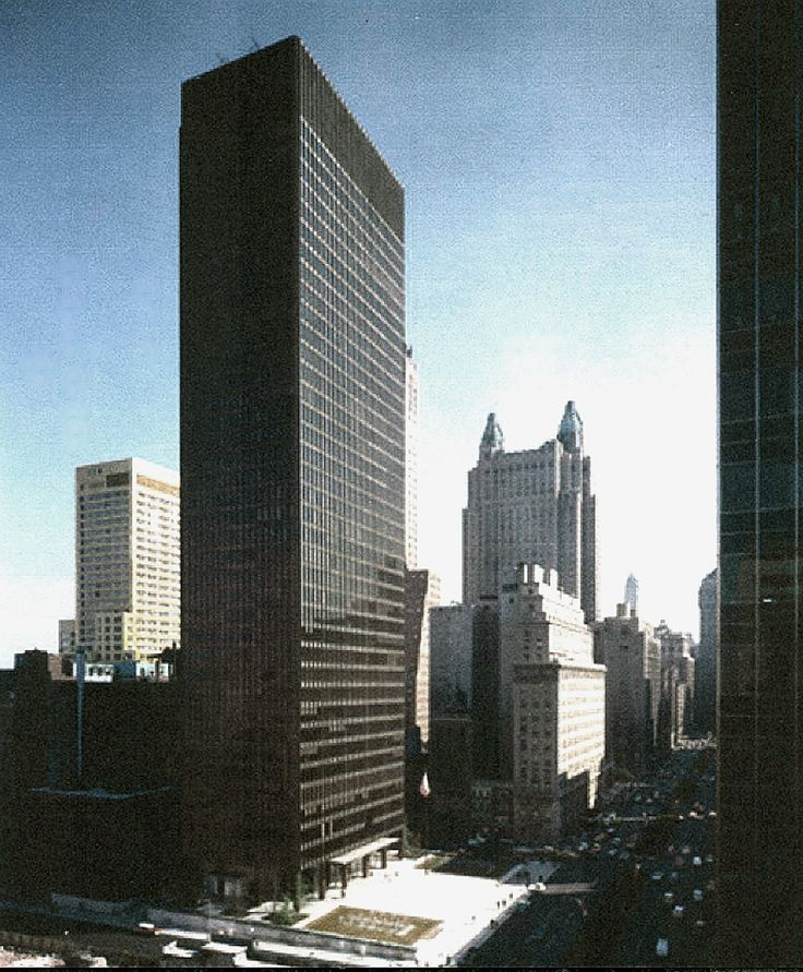 The Seagram Building, Mies van der Rohe and Philip Johnson