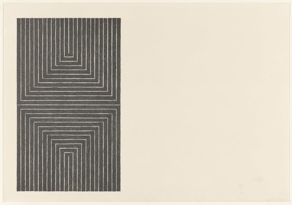 Frank Stella, Arundel Castle from Black Series I 1967