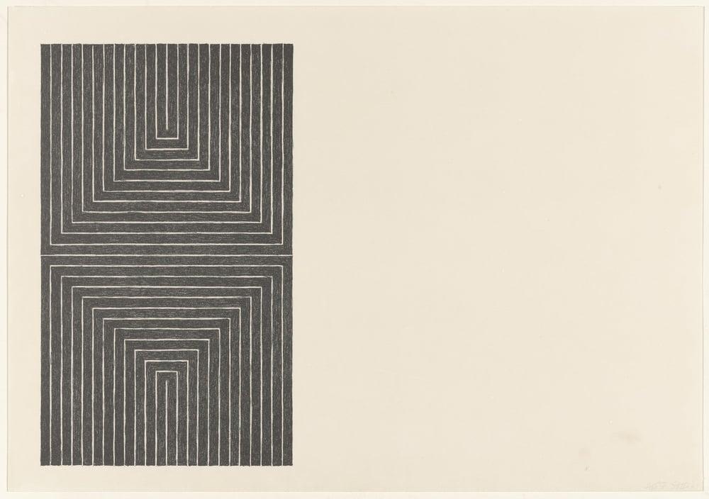 Frank Stella,Arundel Castle from Black Series I 1967