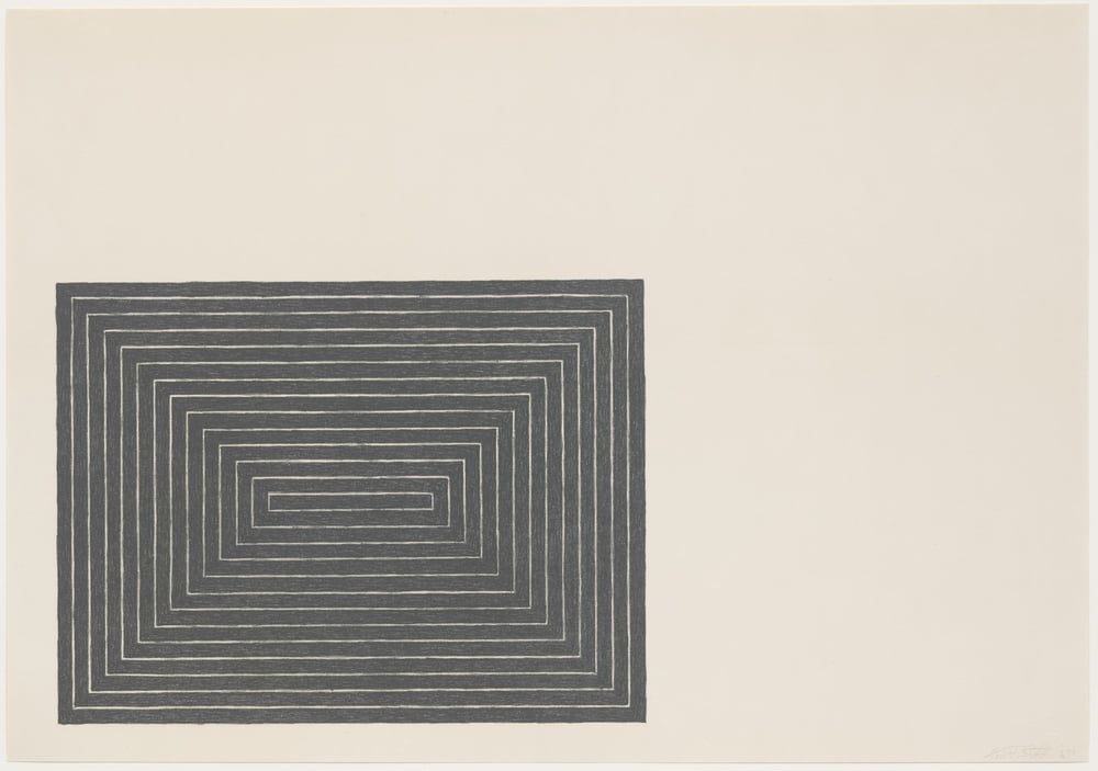 Frank Stella, Tomlinson Court Park from Black Series I 1967