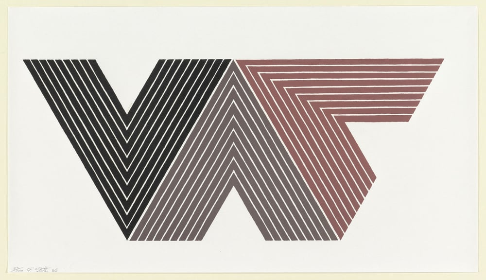 Frank Stella, Quathlamba I from the V Series 1968