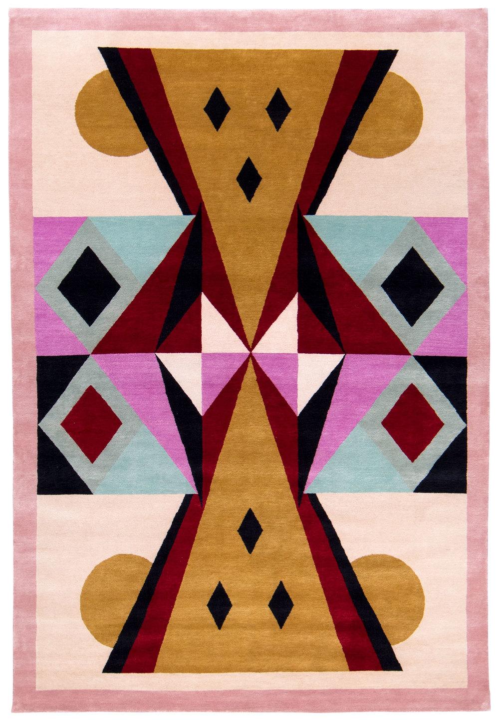 Toto - 6' x 9' - silk and wool twill