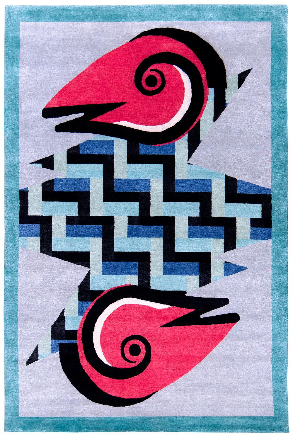 Rasuwa - 6' x 9' - silk and wool twill