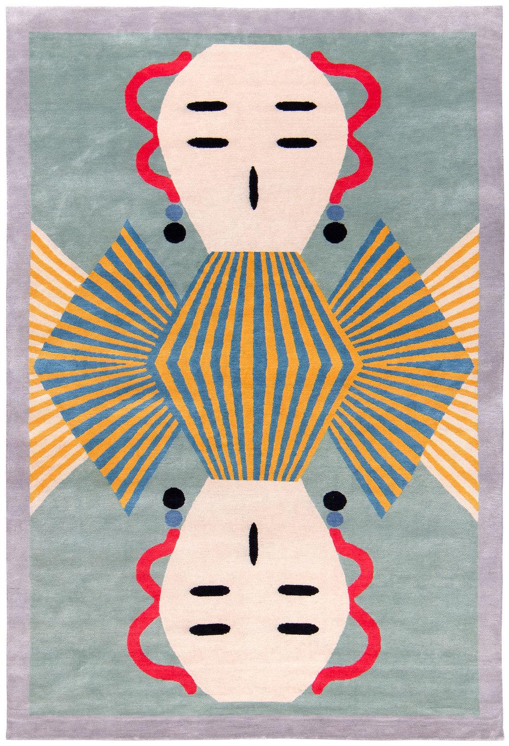 Dhading - 6' x 9' - silk and wool twill