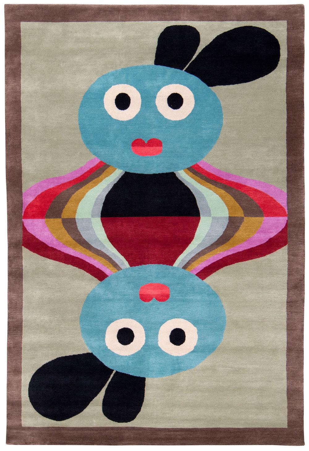 Gorkha - 6' x 9' - silk and wool twill