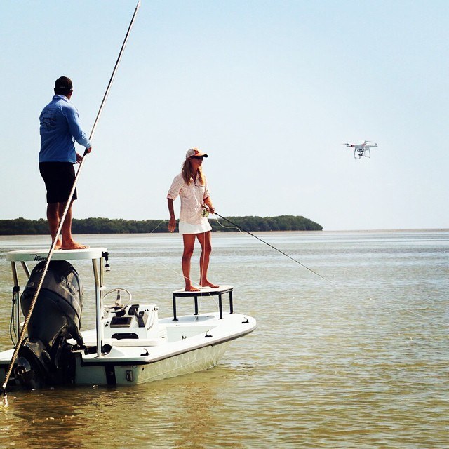 Production shot with @meredithmccord and the drone at Flamingo. #djicreators #islamorada #redfish