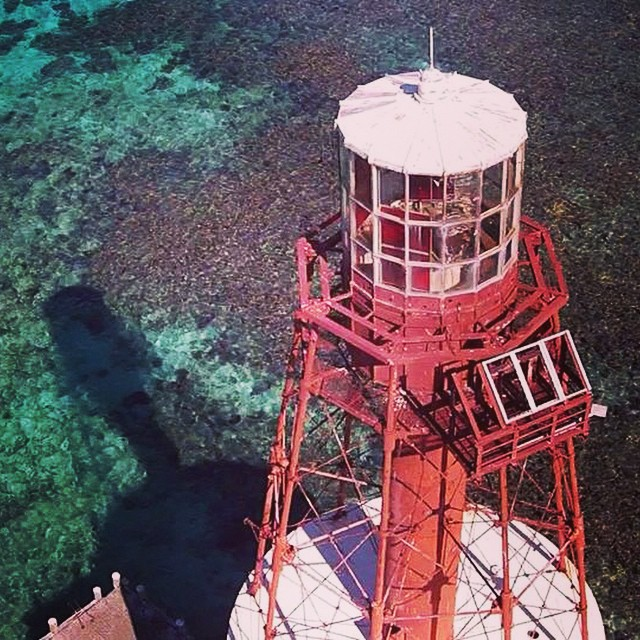 Carrysfort Reef Light 6 miles east of Key Largo is the oldest functioning lighthouse if its type in the US, completed in 1852. Captured this beauty with the drone on a shoot with Rob Fordyce, Flip Pallot and Dan Branam last week.