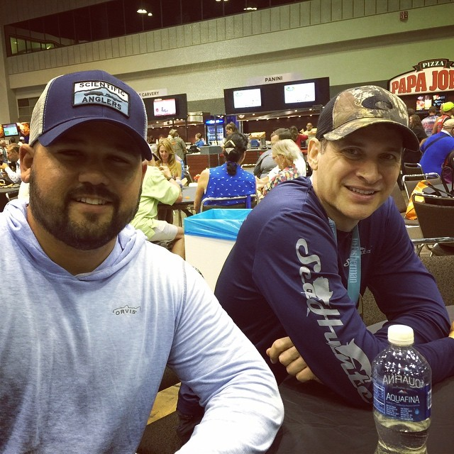 2/3 of the Salty Fish crew at #icast2016 #icast