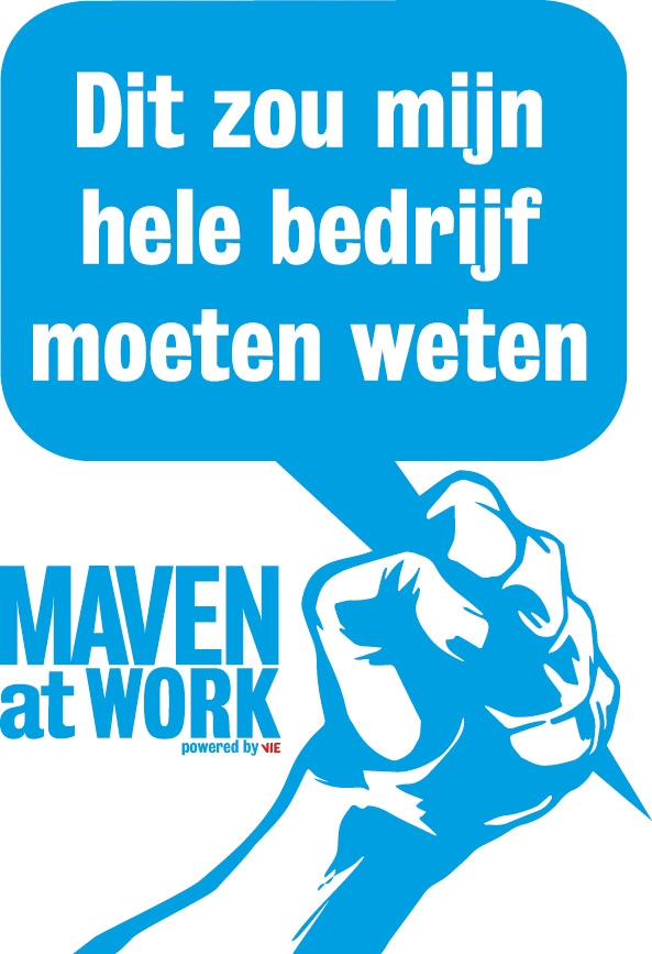 Vuist Maven at work rood.jpg