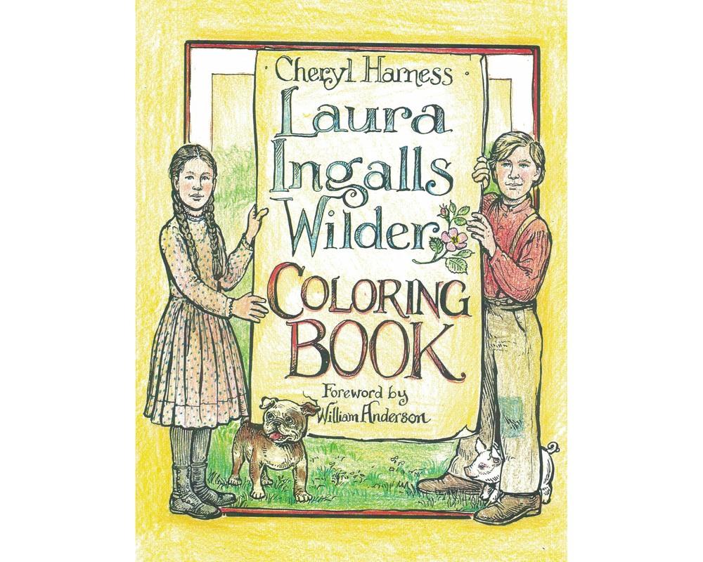 laura ingalls wilder coloring book u2014 ingalls homestead