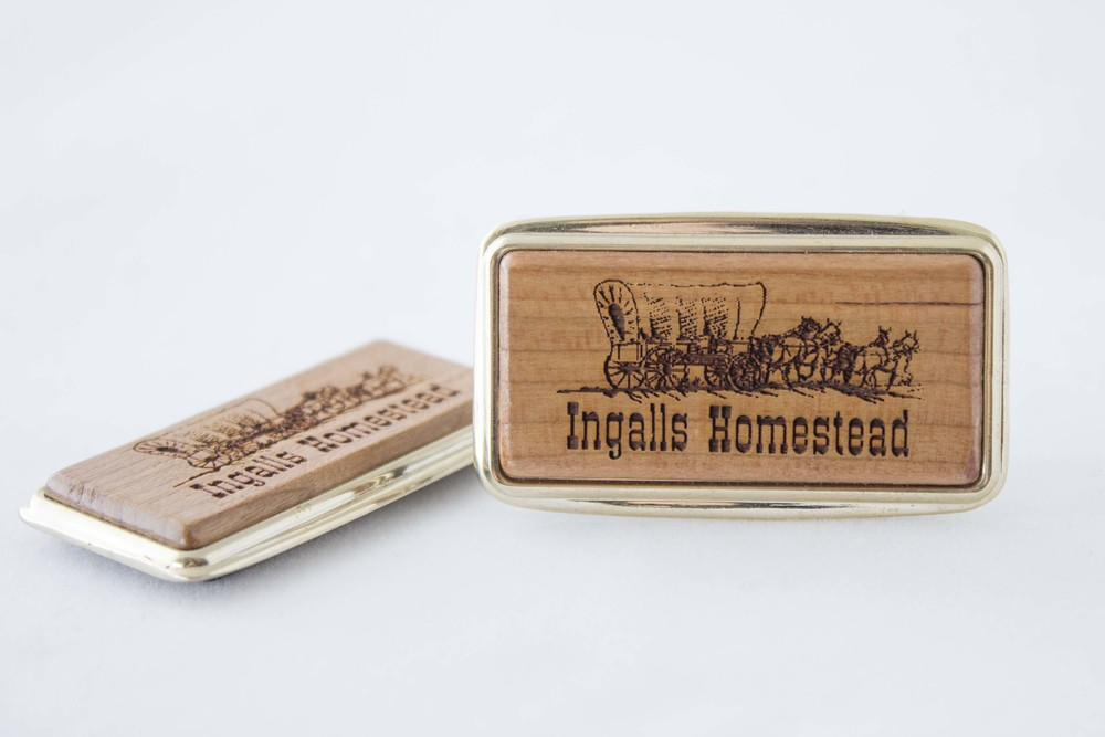 wooden covered wagon magnet ingalls homestead