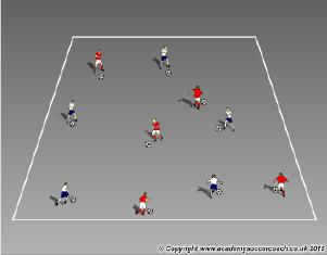 individual attacking warm-up