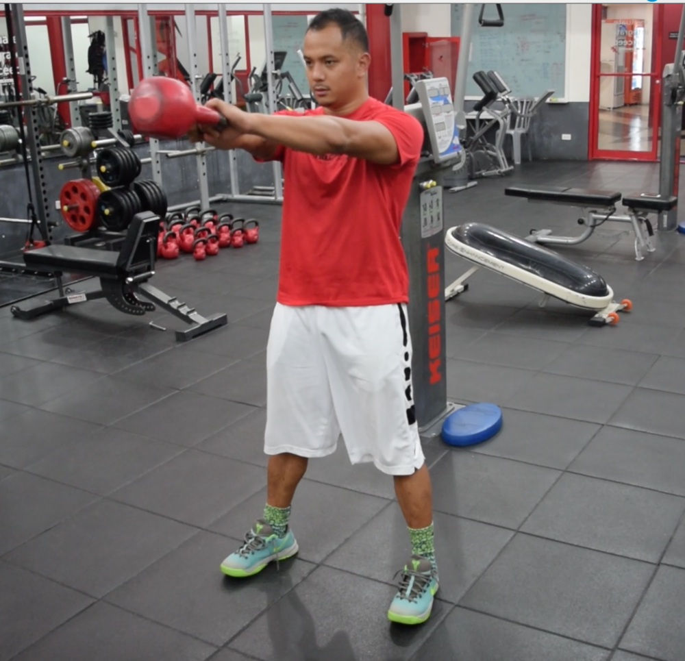 2 arm kettlebell swing