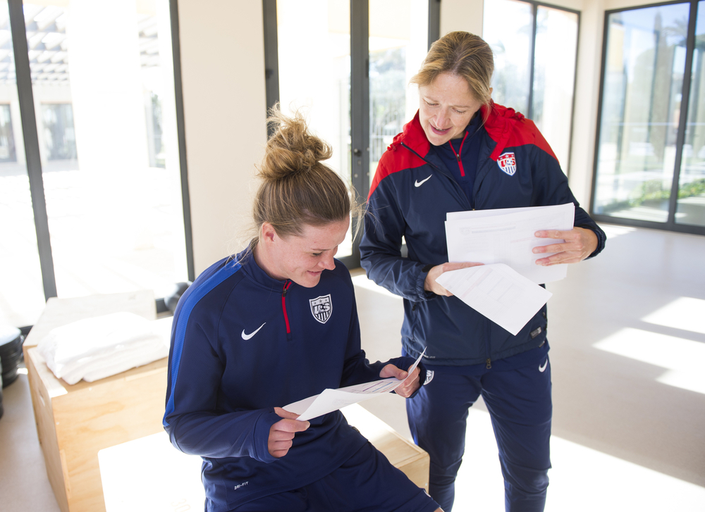 159da347209 Scott took time out of her extremely busy schedule to answer questions  about the US Women s National Team Fitness. How do you compare