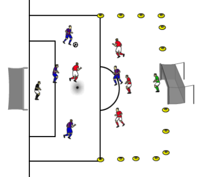 shooting game for strikers and goalkeepers