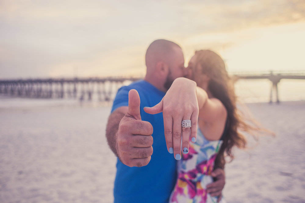 engagement photo navarre beach pensacola