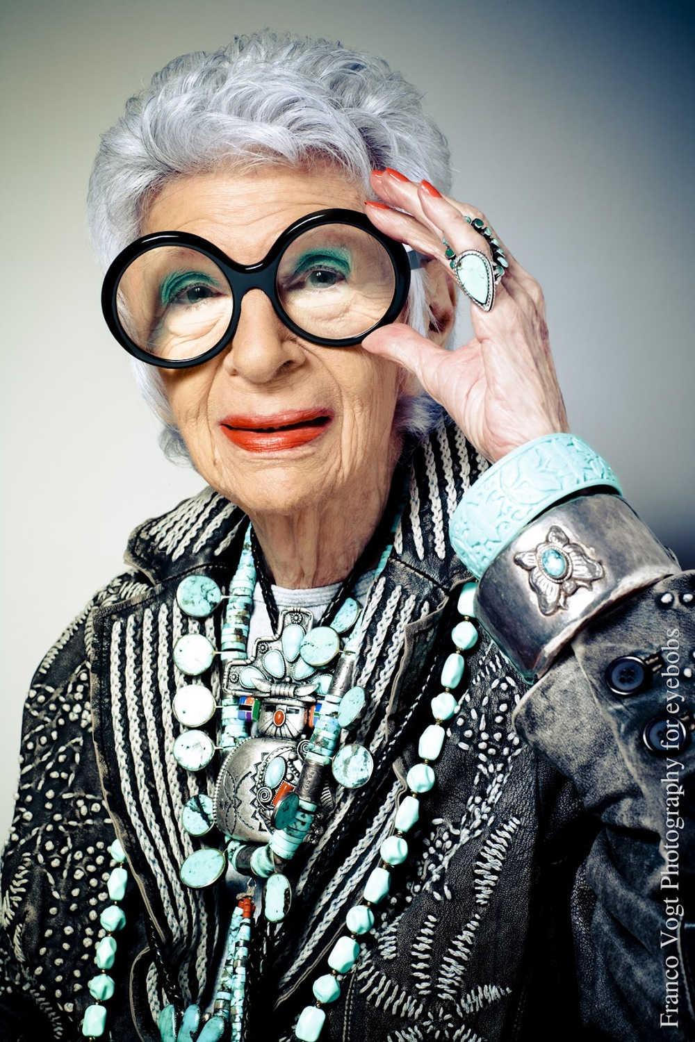 """You don't look 90.""  Iris Apfel"
