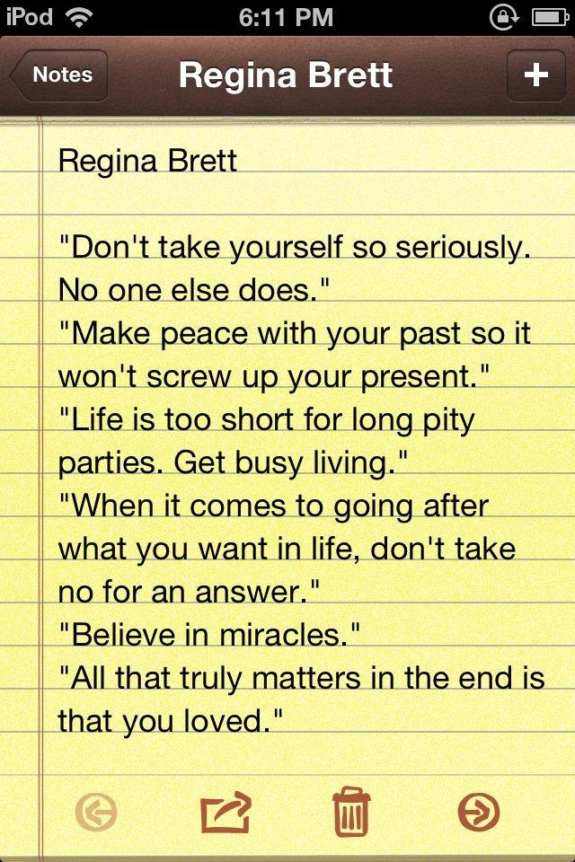 Regina Brett Quotes Regina Brett