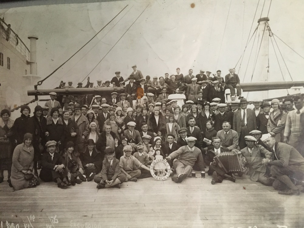 Immigrants bound for America on the SS Ile de France