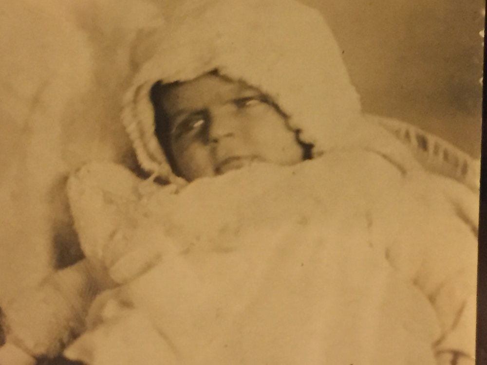 The only baby picture we have of our Mom, Mary, from 1930.