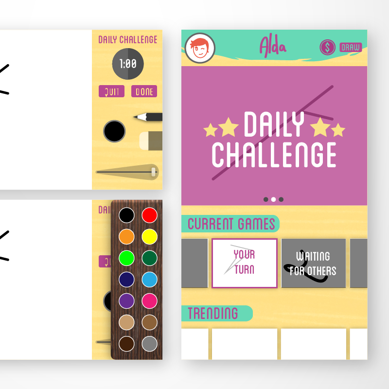 Alda A drawing game about creating from very little