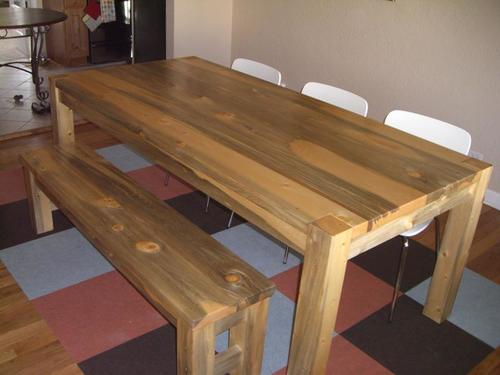 BKP Table with Modern Legs and BKP Bench