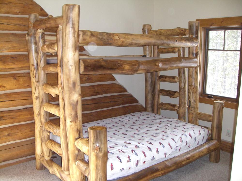 Aspen Log Bunk Bed Twin Over Full